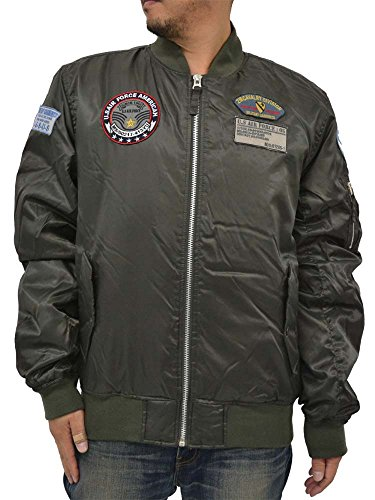 hot Future Bullet Men's MA-1 Bomber Flight Jacket Military Jacket With Patches Big & Tall save more