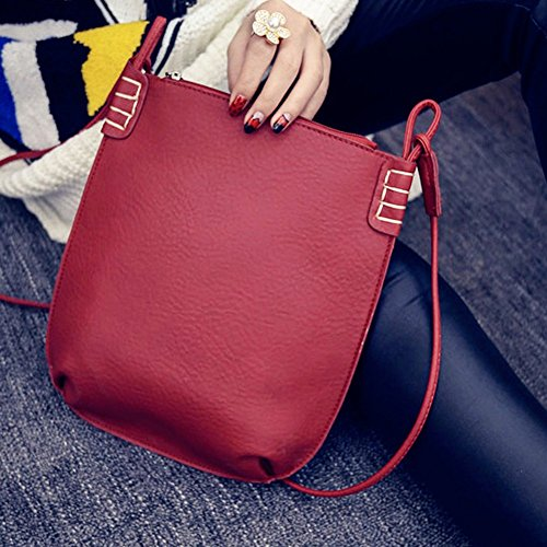 Frauen Taschen, Damen Handtaschen, PU Leder Rot Schulter Beutel