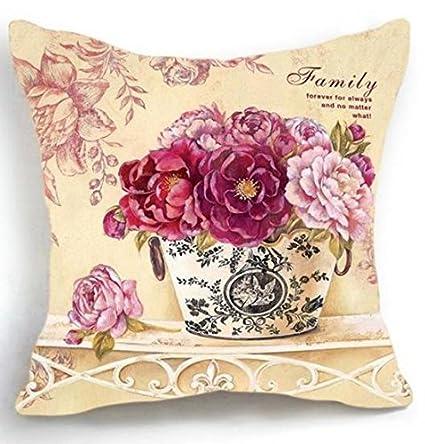 Amazon.com: Maiyubo Luxury Flower Vase Pillow Cushion Cover ...