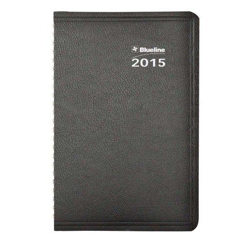 Blueline 2015 Net Zero Carbon Weekly Planner, Twin-Wire Binding, Soft Black Cover, 8 X 5 Inches (C815.81T-15)