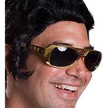 Elvis TCB - Large Elvis King of Rock Rock & Roll TCB Aviator Sunglasses (Gold)