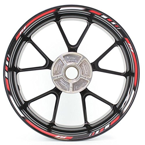SpecialGP color-matched adhesive rim-striping wheel rim pin stripe pinstriping tape sticker decals for Yamaha YZF R1 17-inch wheels