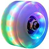 NICODASHEN Roller Skate Wheels Luminous Light Up, 8