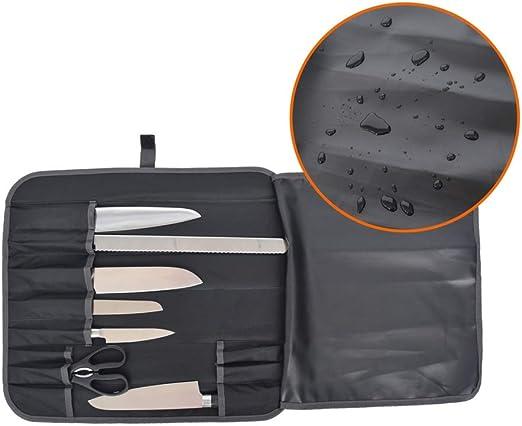 Clyline Bolso Rollo Chef Cilindro con mango portátil y estuche de almacenamiento para cuchillo de bolsillo múltiple: Amazon.es: Hogar