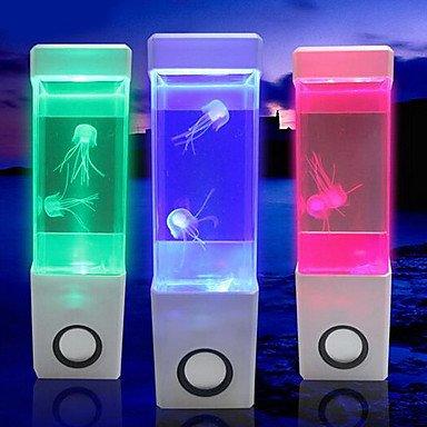 CLCJW Iluminación creativa,(Jalea blanca) creativa mini USB acuario volcán electrónico LED mesa de luz lámpara de la noche: Amazon.es: Iluminación