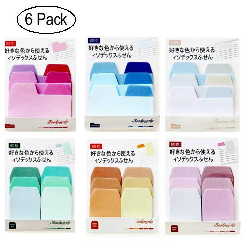 The Best Sweet Colorful Macaroon Self-adhesive Memo Pad Sticky Notes Bookmark School Office Supply Bookmark Paper Sticker Size 6.5*6cm Clear-Cut Texture Notebooks & Writing Pads