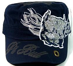 Black Rhinestone Pit Bull Glitter Cadet Hats