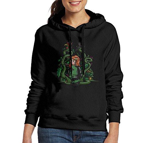 [Bekey Women's Poison Ivy Girl Hoodie Sweatshirt L Black] (Dead School Girl Costume)