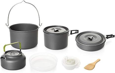 FYHCY Camping Cocina portátil 5-6 Personas Camping Kit de ...