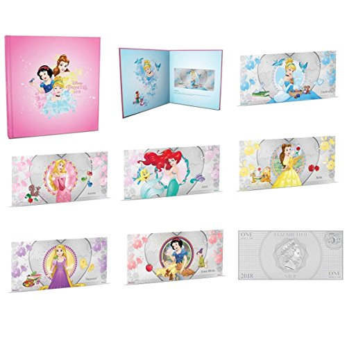 NU 2018 Disney Princess - Complete Collection 6 Silver Coin Note (Cinderella, Belle, Aurora, Snow White, Rapunzel and Ariel) - Niue Mint State