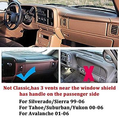 HanLanKa Dashboard Cover for Chevrolet Silverado 1500 2500 3500 1999-2006 Avalanche Chevy Tahoe Suburban GMC Sierra Yukon Dash Cover Mat(Premium Carpet, Black): Automotive