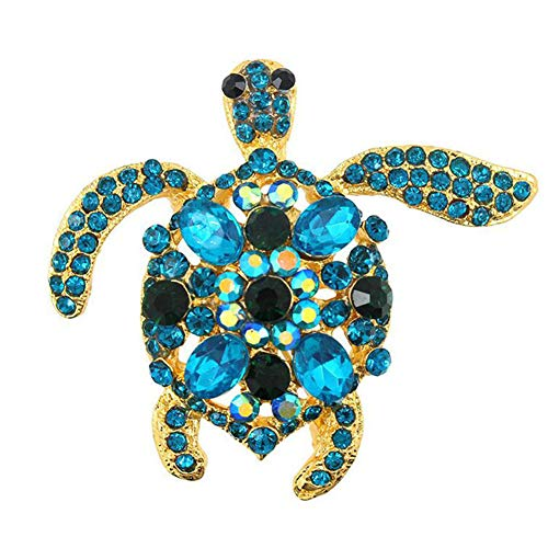 (Sunliy Fashion Crystal Rhinestone Turtle Tortoise Reptile Pin Brooch Women's Brooch Pin Covered Scarves Shawl Clip for Women Ladies)