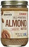 Woodstock Crunchy Almond Butter, No Salt, 16 oz