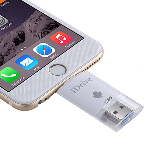 128GB 2 in 1 Micro USB 2.0 & 8 Pin USB iDrive iReader Flash Memory Stick for iPhone 6 & 6s, iPhone 6 Plus & 6s Plus, Samsung Galaxy S6 / S5