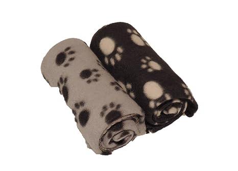 2 kuschelige Perros Techos 70 x 70 cm, Gato techo/mantas para perros o