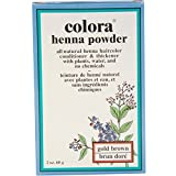 Colora Henna Powder Hair Color Gold Brown, 2 oz (Pack of 8)