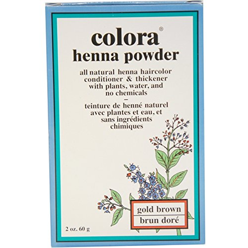 Colora Henna Powder Hair Color Gold Brown, 2 oz (Pack of 8) by Colora Henna Powder