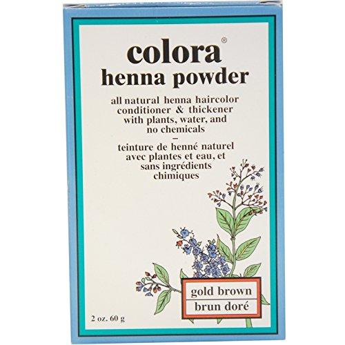 Brown Henna Powder (Colora Henna Powder, Gold Brown)