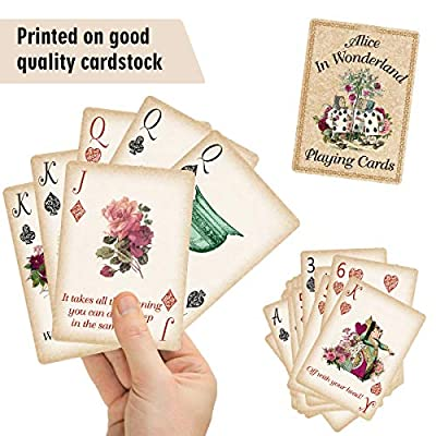 Alice Playing Cards Poker for Tea Party Supply Themed Party Gift: Toys & Games