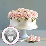 6 x Rose Petal Cookie Icing Cutter Mold Cake Decorating Pastry Mould Sugarcraft DIY Kitchen Tool