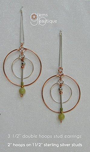 - GemsBeautique Pendulum Elegant Silver & Copper Circle 3 1/2