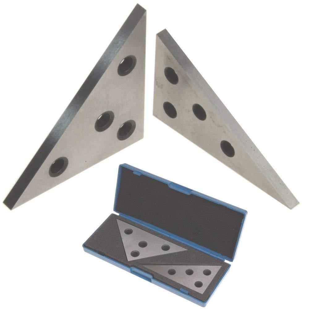 Chiloskit Jeu de blocs d'angle de précision pour Calibration Calibration Calibration Blocs d'inspection Outil de machiniste, 2Pcs, 2