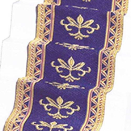 Melody Jane Dollhouse Woven Stair Carpet Runner Blue Gold Miniature Flooring