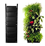 AMARS Garden Vertical Hanging Wall Planter, 7 Pockets Wall-mounted Green Planter Pouch for Indoor, Outdoor, Herbs, Patio, Balcony, Kitchen (11.8 in 37 in, Premium Strong & Durable, Breathable)