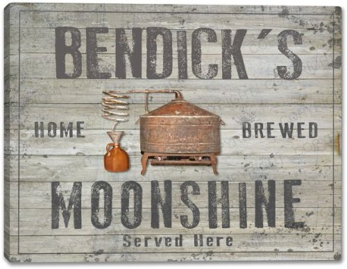 BENDICK'S Home Brewed Moonshine Stretched Canvas Print
