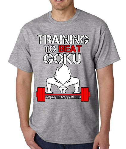 Crazy Bros Tee's DBZ Training To Beat Goku Or At Least Krillin Men's T-Shirt
