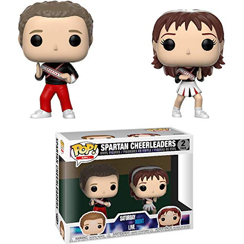 Funko Spartan Cheerleaders: Saturday Night Live x POP! SNL Vinyl Figure + 1 American TV Themed Trading Card Bundle [33112]