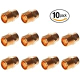 PROCURU 1/2-Inch Copper Male Adapter CxM | Professional NSF Lead Free Certified (1/2'', 10-Pack)