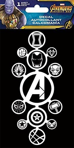 Laptop Walls Avengers Decal Stickers for Car Room Decor Featuring Iron Man and Thor with Bonus Avengers Stickers Decal Pack Thanos Marvel Avengers Decals Set with Bonus Stickers