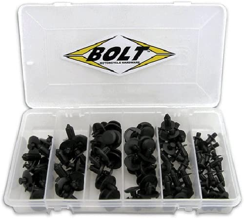 M6 Nylon Push Rivet, Box of 10 Bolt Motorcycle Hardware 2005-6SRIV