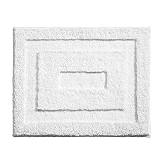 "iDesign Spa Microfiber Polyester Non-Slip Bathroom Mat Shower Accent Rug - 21"" x 17"", White (B0026RI0ES) 