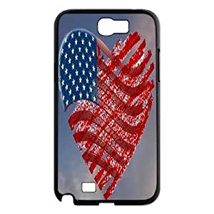 Retro American Flag ZLB526118 Custom Phone Case for Samsung Galaxy Note 2 N7100, Samsung Galaxy Note 2 N7100 Case by lolosakes