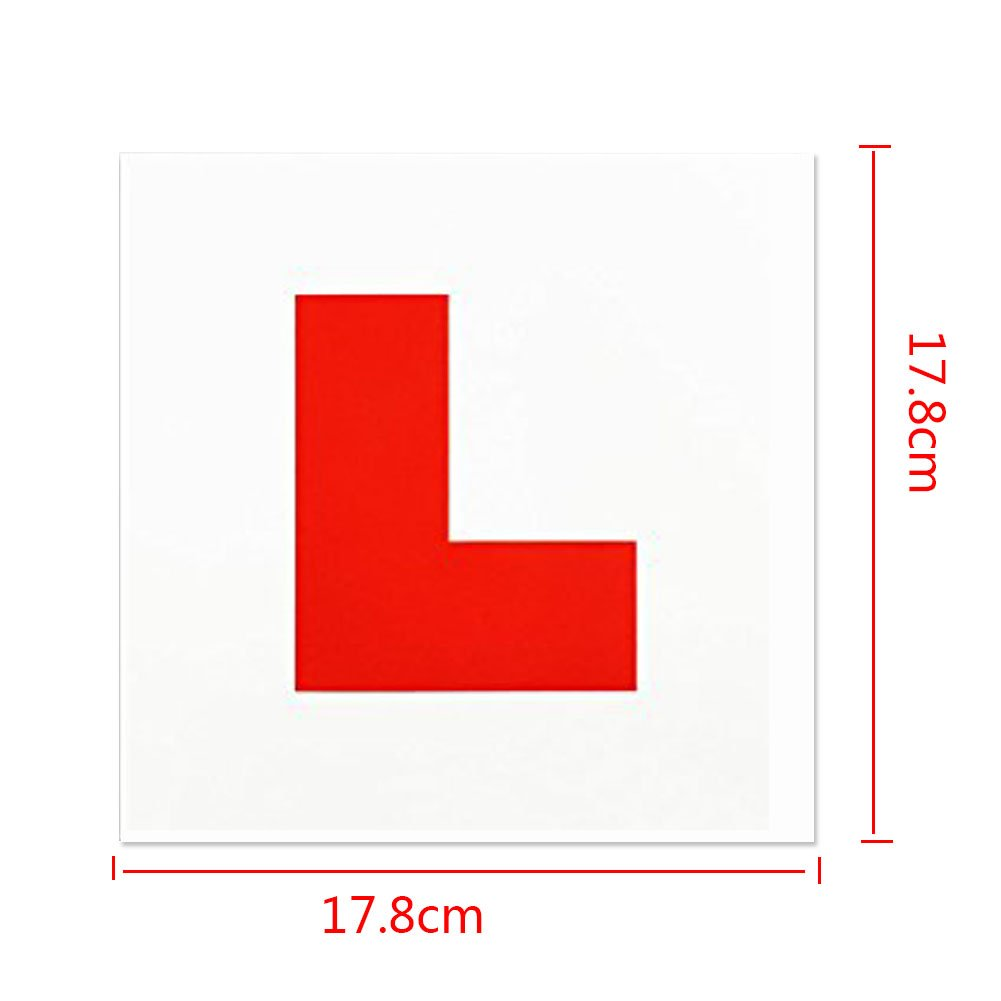 Fully Magnetic Red L Plates 2 Pack For New Drivers Strong Magnetic Easy Sticker On Cars Learner Platess Choice For Safe Driving CMP-L-2