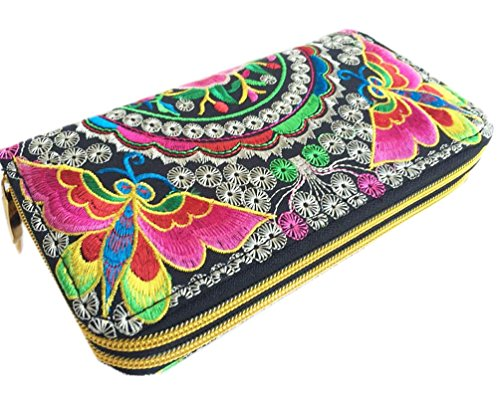 Butterfly Embroidered Wallet - 8