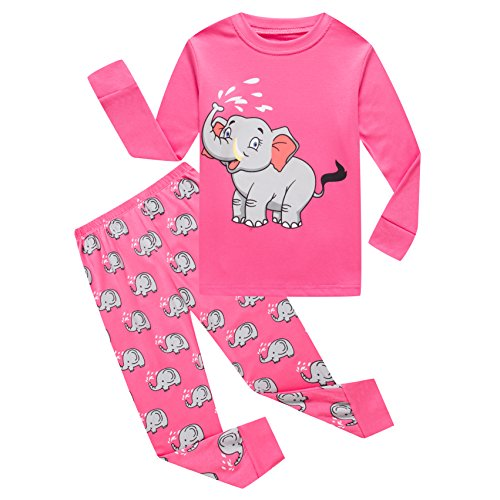 - Baby Girls Long Sleeve Pajamas Sets 100% Cotton Pyjamas Toddler Infant Kids Pjs Size 18-24 Months Pink
