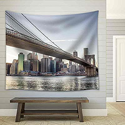 Stunning Artistry, Created By a Professional Artist, Architectural Detail of Brooklyn Bridge in New York City U S a Fabric Wall