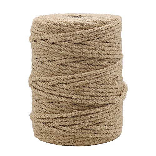 (Tenn Well 164Feet 4mm Natural Jute Twine for Gardening, Arts & Crafts, Home Decor, Gift Wrapping)