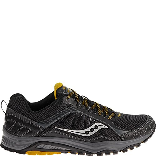 Saucony Men's Excursion TR9 Running Shoe, Black/Yellow,10 M