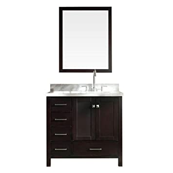 Ariel Cambridge A037s R Esp 37 Single Sink Bathroom Vanity Set W