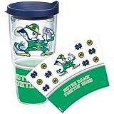 Notre Dame Fighting Irish Tervis Tumbler Leprechaun Wrap 24 Oz Cup With Lid
