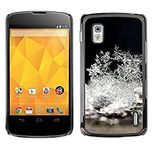 YOYO Slim PC / Aluminium Case Cover Armor Shell Portection //Christmas Holiday Ice Snow Flowers 1256 //LG Google Nexus 4