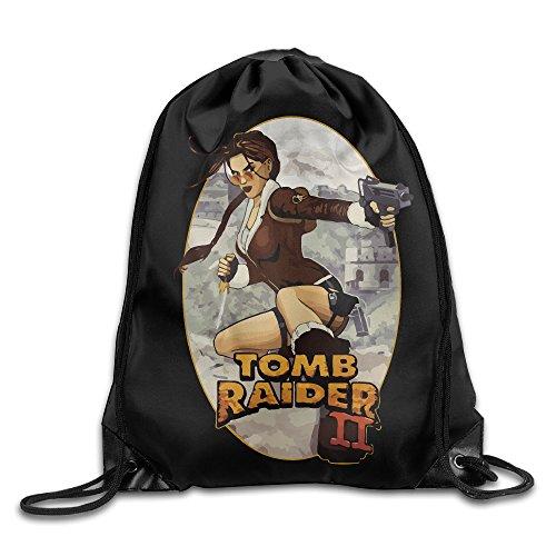 Tomb Raider Lara Croft Sport Backpack Drawstring Print Bag
