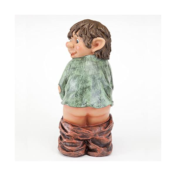 Bits-and-Pieces-Caught-with-His-Pants-Down-Garden-Elf-statue-Naughty-Garden-Elf-Yard-art-Funny-Gnome-or-Elf-Polyresin-Statue-Measures-13-12-high-x-5-wide