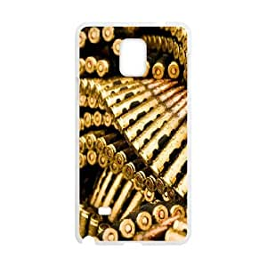 Samsung Galaxy Note 4 Case,Golden Bullets Hard Shell Back Case for White Samsung Galaxy Note 4 Okaycosama401612