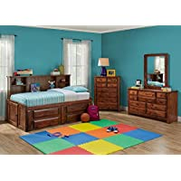 Catalina Chestnut 6 Pc. Twin Roomsaver Bedroom Furniture Set