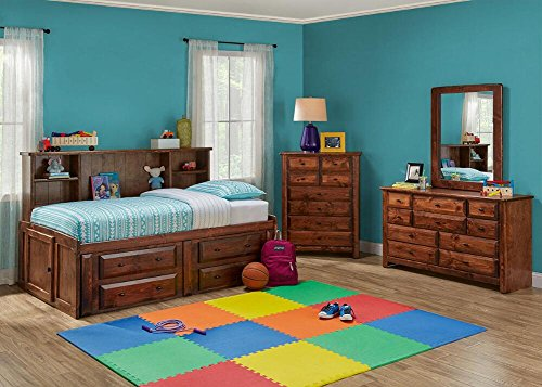 Catalina Chestnut 6 Pc. Twin Roomsaver Bedroom Furniture Set by THE ROOMPLACE
